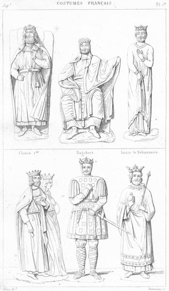 Associate Product CLOVIS 1ER. Dagobert Louis Debonnaire Pepin Berthe Charlemagne Lothaire 1875