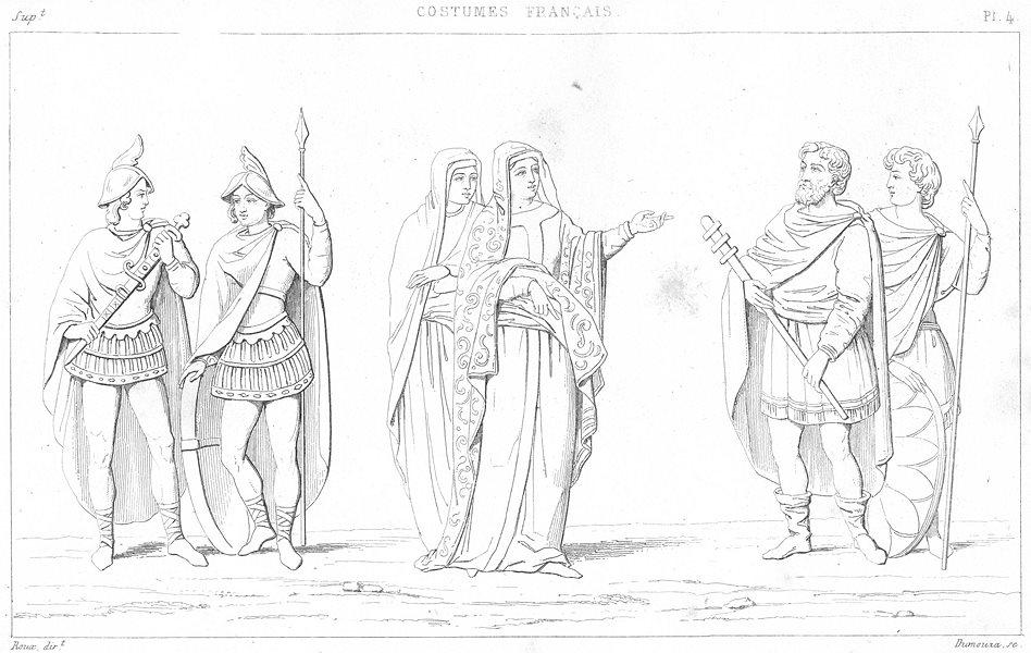 Associate Product FRANCE. Costumes. Seigneurs(cour de Charles chauve); Princesses;  1875 print