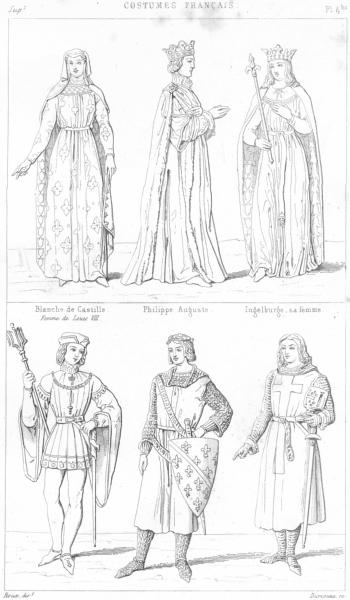 Associate Product BLANCHE DE CASTILLE. Philippe Auguste; Ingelburge; Robert Clermont; Croise 1875