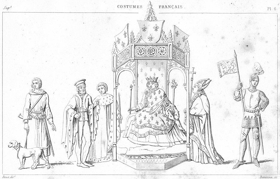 Associate Product FRANCE. costumes. Veneur; Le Sacre de Charles VI; Chevalier 1875 old print