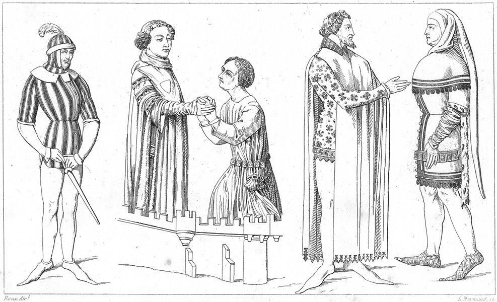 Associate Product FRANCE. Varlet; Louis II de Bourbon; Seigneurs recevant hommage 1875 old print