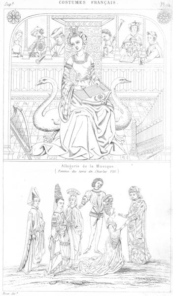 Associate Product ALLEGORIE DE MUSIQUE(CHARLES VIII). Reception grande dame(Temeraire) 1875