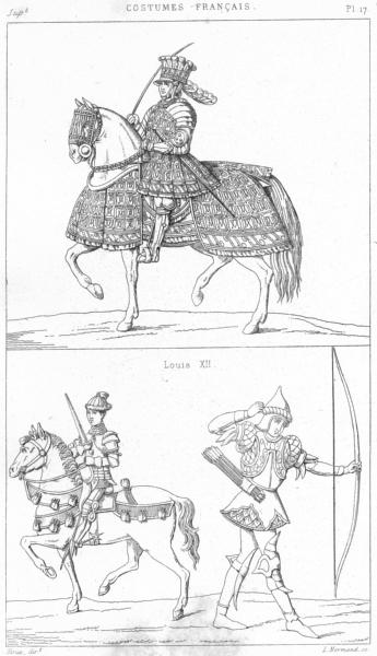Associate Product FRANCE. Militaria. Louis XII; Capitaine de Gendarmes(15e, Siecle); Archer 1875