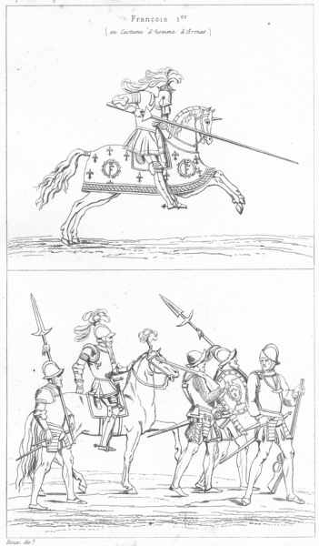 Associate Product FRANCE. Militaria. Francois 1er; Hallebardiers-Arquebusiers-Musketeer 1875