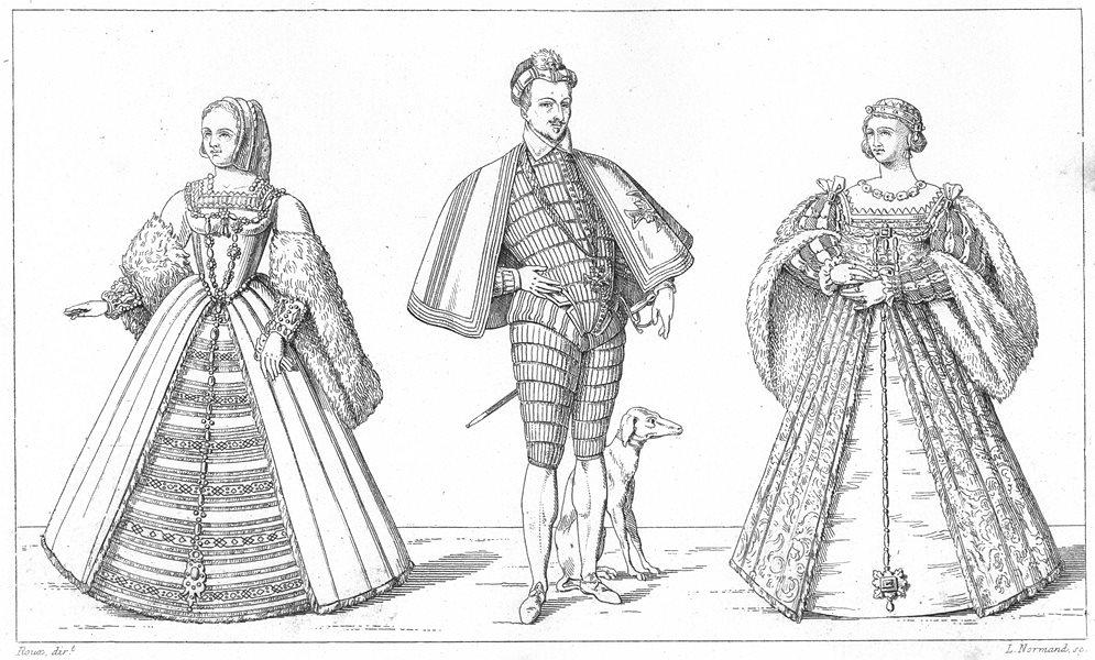 Associate Product FRANCE. Reine Claude 1ere femme de Francois 1er; Henri III; Eleonore 2me 1875
