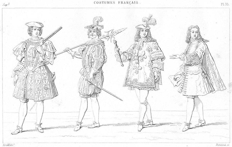 Associate Product FRANCE. Garde prevote; Cent-Suisse Garde; Roy d'Armes; Secretaire d'Etat 1875