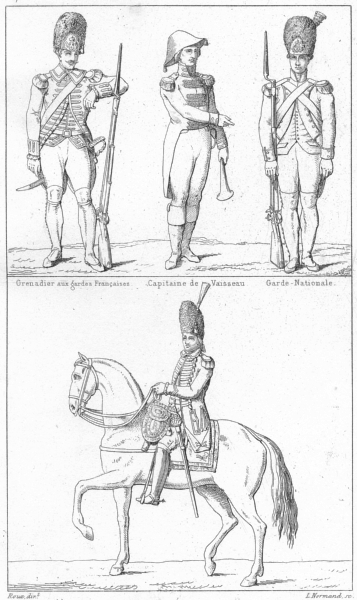 Associate Product GRENADIER AUX GARDES. Capitaine Vaisseau; Officier Royal Allemand(1789) 1875