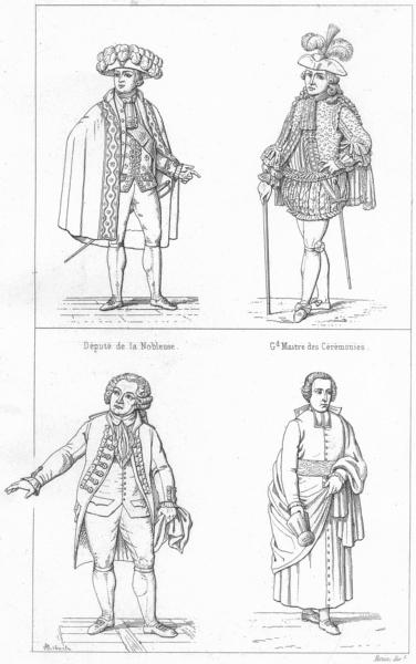 Associate Product FRANCE. Depute Noblesse; Gd Maitre Ceremonies; Tiers Etat(1789); Clerge 1875