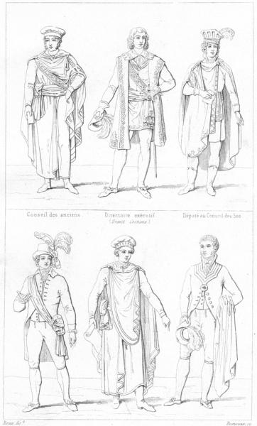 Associate Product FRANCE. Council of Elders, 500; legislative body, Civil Court 1875 old print