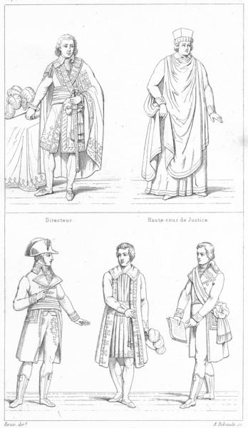 Associate Product FRANCE. Directeur; Hte-cour Justice; Corps legislatif; Ministre; Tribunat 1875