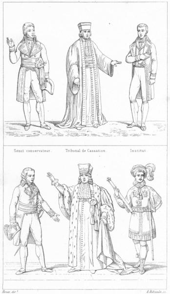 Associate Product FRANCE. Conservative Senate, Supreme Court, Ambassador, Judge, Herald 1875