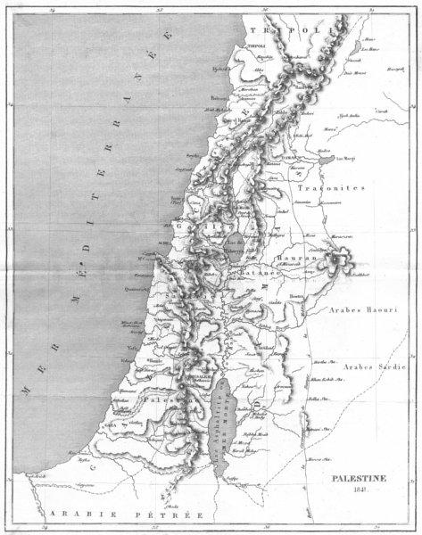 ISRAEL. Asie. Palestine 1841 1875 old antique vintage map plan chart