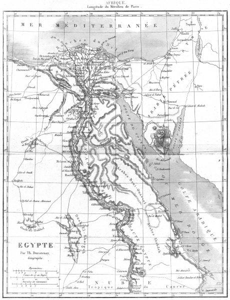Associate Product EGYPT. Afrique Africa. Egypte 1875 old antique vintage map plan chart