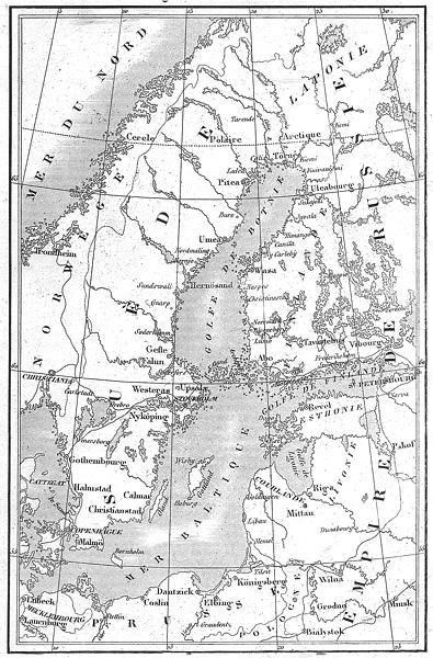 Associate Product EUROPE. Littoral de la Mer Baltique(Baltic); Baltic Sea 1879 old antique map