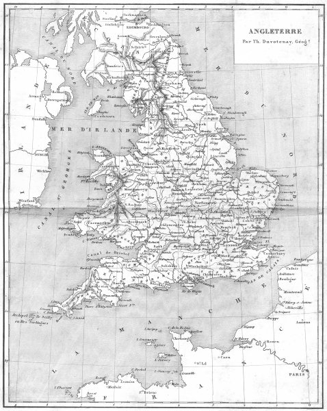 Associate Product ENGLAND. Angleterre 1879 old antique vintage map plan chart
