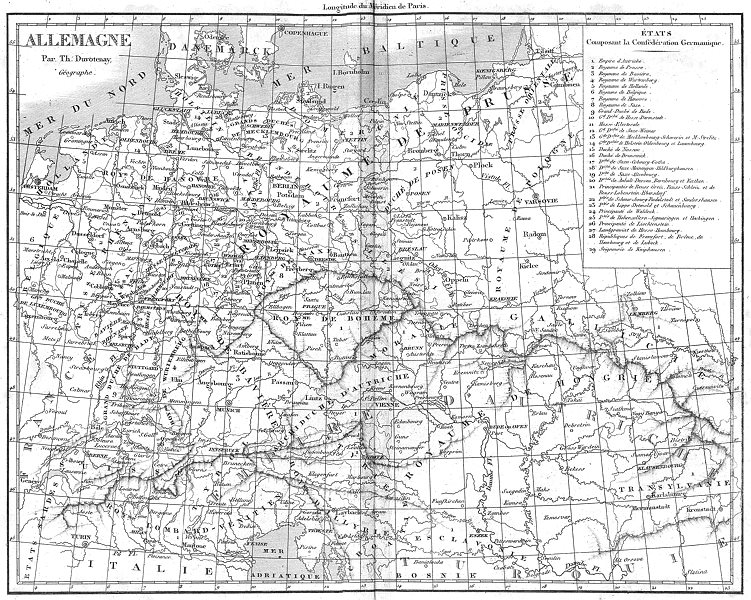 Associate Product GERMANY. Allemagne 1879 old antique vintage map plan chart