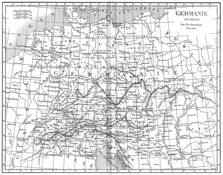Associate Product GERMANY. Germanie Ancienne Ancient 1879 old antique vintage map plan chart