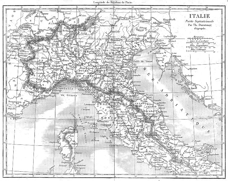 Associate Product ITALY. Italie Partie Septentrionale North 1879 old antique map plan chart