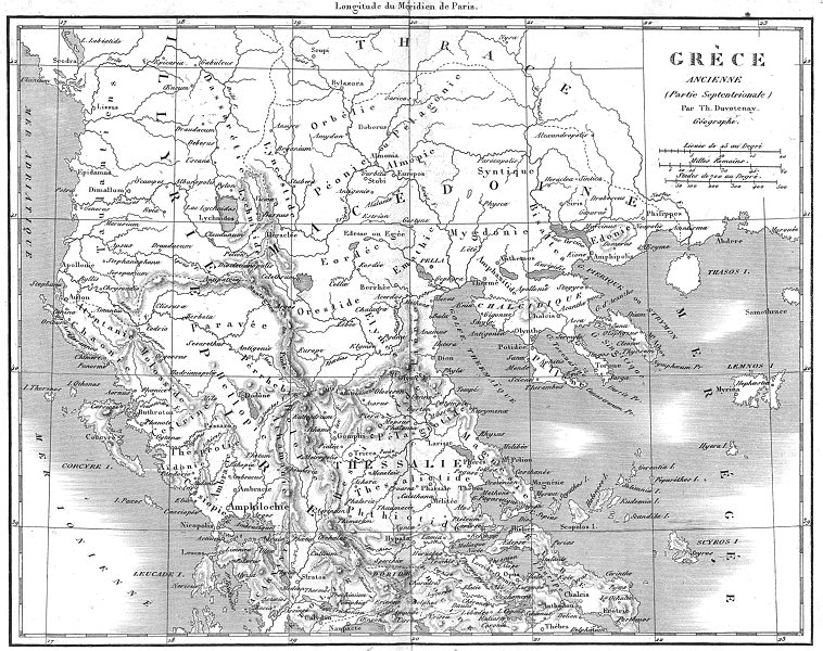 Associate Product GREECE. Grece(Greece)Ancienne(Septentrionale)Ancient North 1879 old map