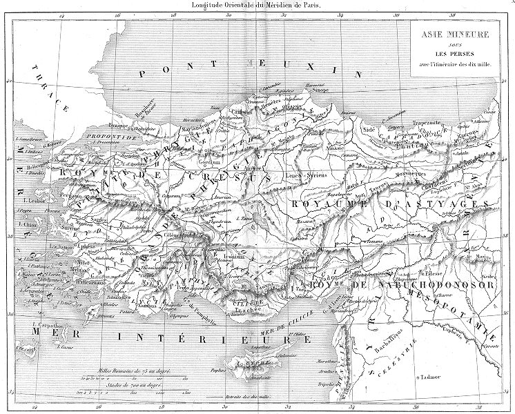 Associate Product TURKEY. Asie Mineure Sous Les Perses; Persian Asia Minor 1879 old antique map