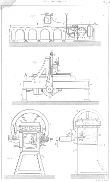 Associate Product ENGINEERING. Arts Mecaniques. Machines a raboter les metaux 1879 old print