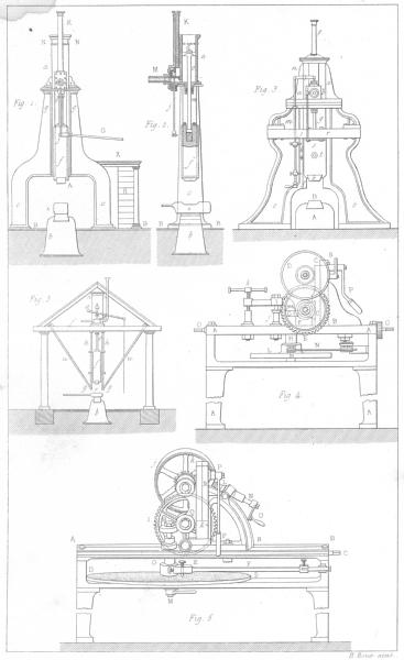 Associate Product ENGINEERING. Marteau a Vapeur-Machine a diviser engrenages 1879 old print