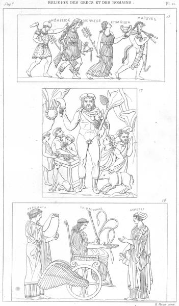 Associate Product GREEKS ROMANS. Thiase de Bacchus; Ceres, Triptoleme Proserpine; Vertumne 1879
