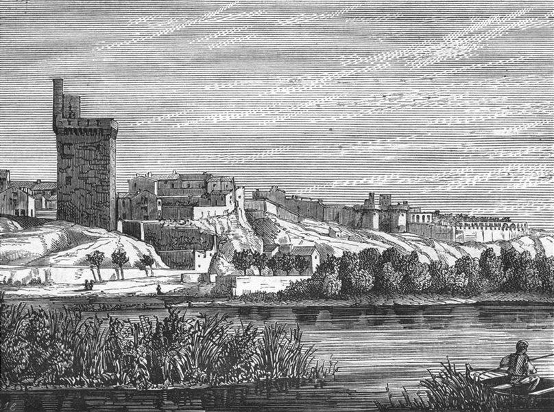 Associate Product VAUCLUSE. Avignon. Villeneuve-les-Avignon 1880 old antique print picture