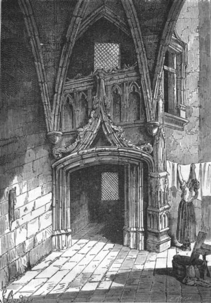 Associate Product RHÔNE. Lyon. Porte gothique, rue Saint-Jean 1880 old antique print picture