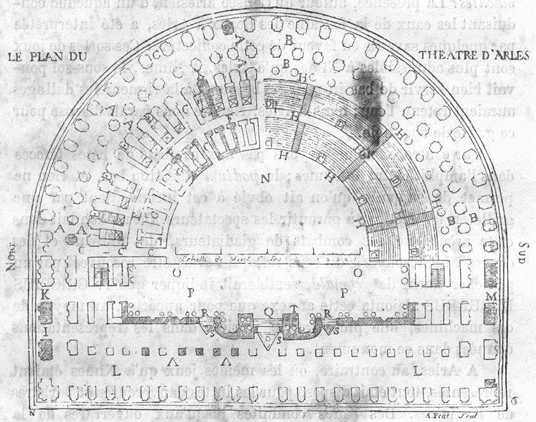 Associate Product BOUCHES-DU-RHÔNE. Arles. Fac-simile d'une ancienne gravure 1880 old print