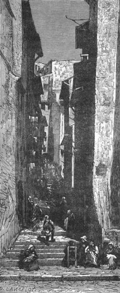 Associate Product BOUCHES-DU-RHÔNE. Marseille. La rue Mayousse 1880 old antique print picture