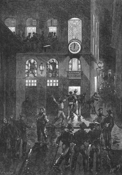 Associate Product BOUCHES-DU-RHÔNE. Marseille. La place Vivaux 1880 old antique print picture