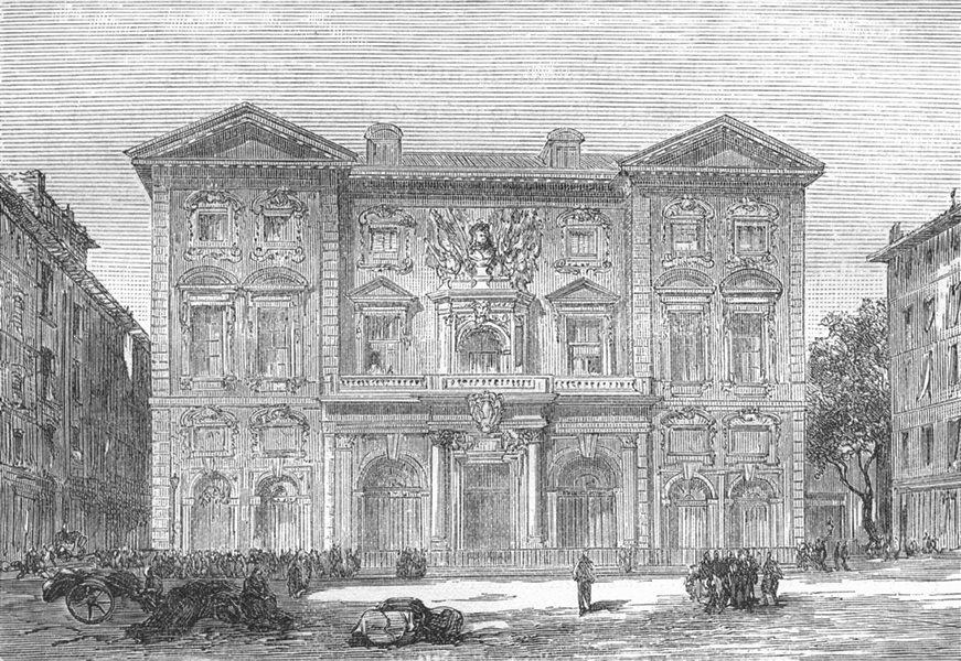 BOUCHES-DU-RHÔNE. Marseille. L'Hotel de Ville 1880 old antique print picture