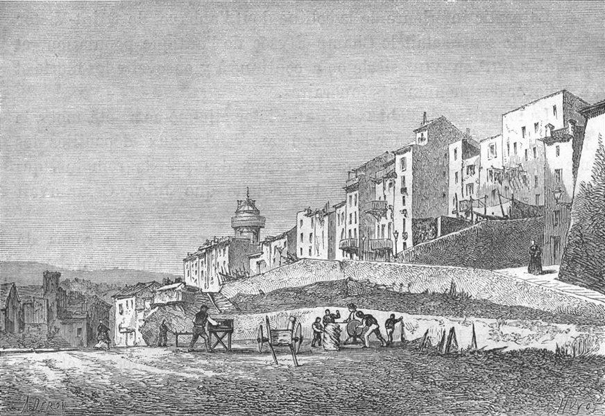 Associate Product BOUCHES-DU-RHÔNE. Marseille. La Tourette 1880 old antique print picture