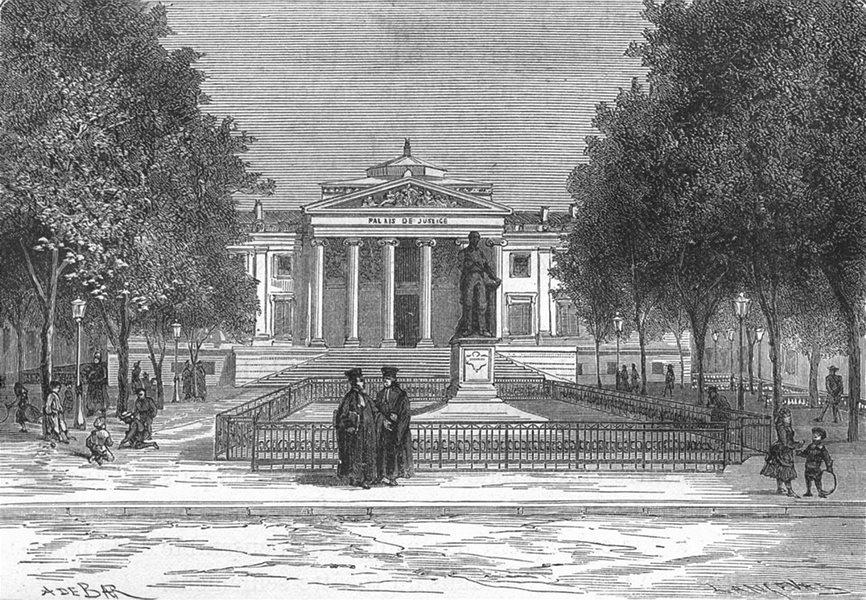 Associate Product BOUCHES-DU-RHÔNE. Marseille. Le Palais de Justice 1880 old antique print
