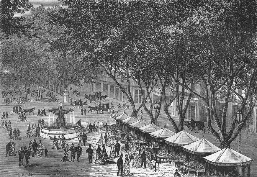 Associate Product BOUCHES-DU-RHÔNE. Marseille. Le cours Saint-Louis 1880 old antique print