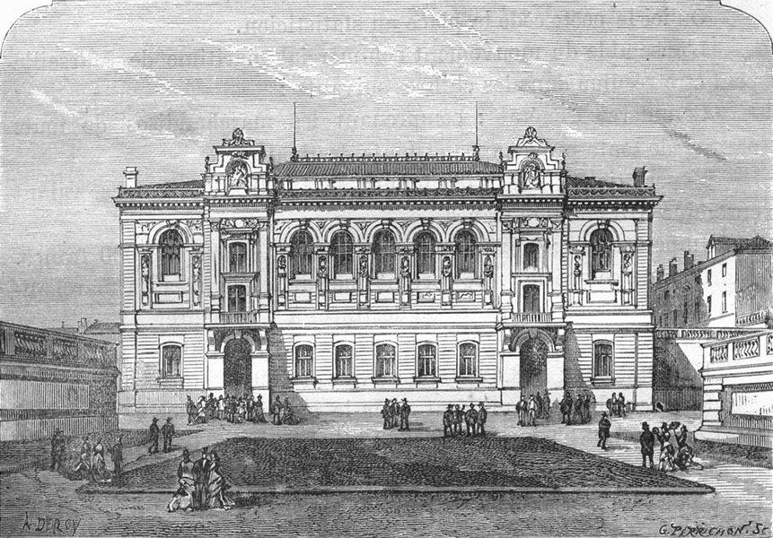 Associate Product BOUCHES-DU-RHÔNE. Marseille. L'Ecole des Beaux-Arts 1880 old antique print