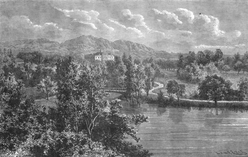 Associate Product BOUCHES-DU-RHÔNE. Marseille. Le chateau Borely 1880 old antique print picture