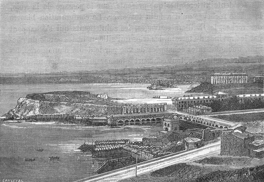 Associate Product BOUCHES-DU-RHÔNE. Marseille. Les Catalans 1880 old antique print picture