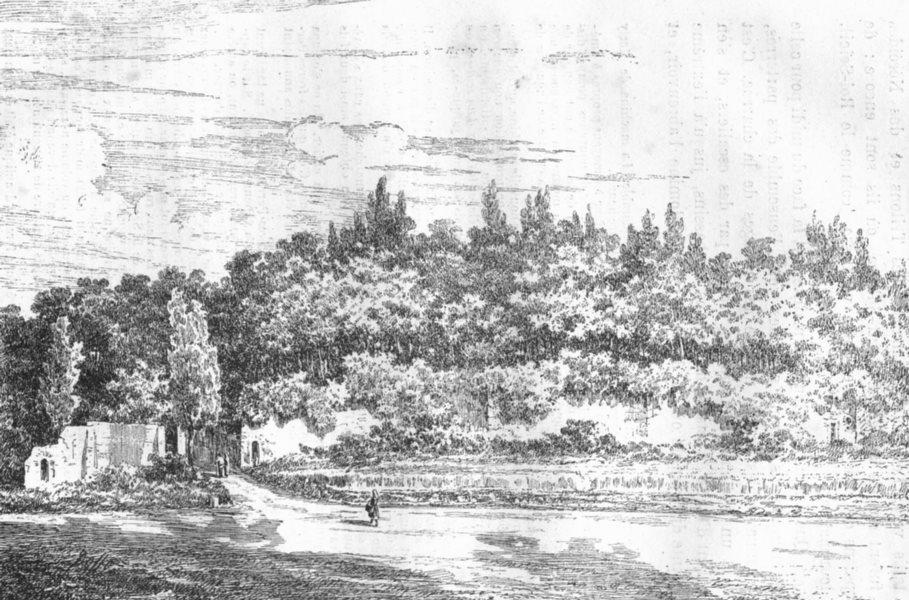 Associate Product YVELINES. Ruines du Chateau de Marly 1880 old antique vintage print picture