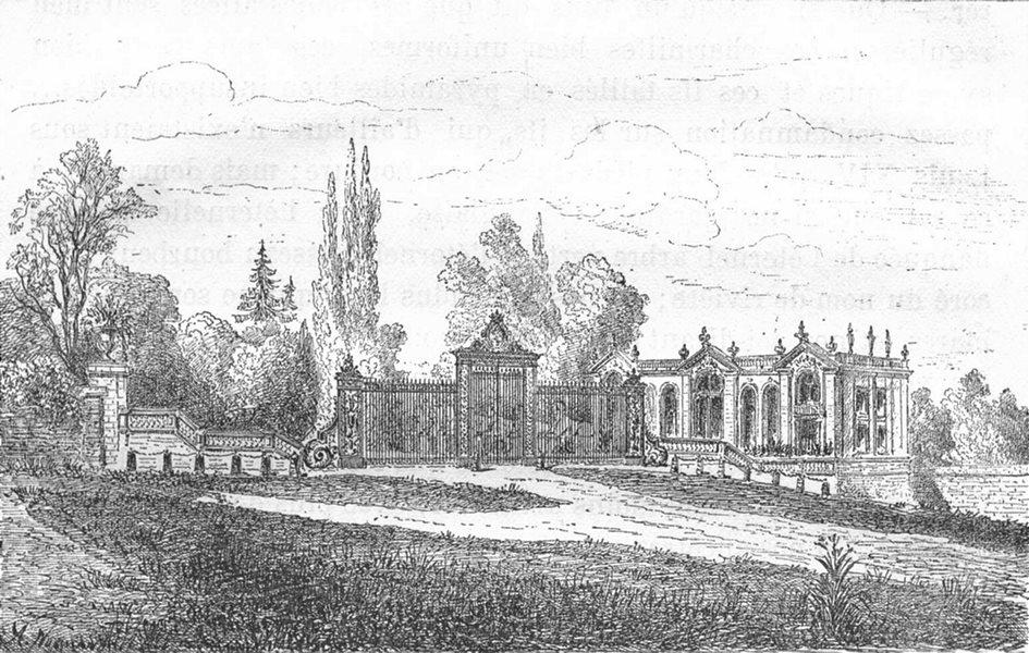 Associate Product BOUCHES-DU-RHÔNE. Entrée, orangerie Verduron, Victorien Sardou Guillaumot 1880
