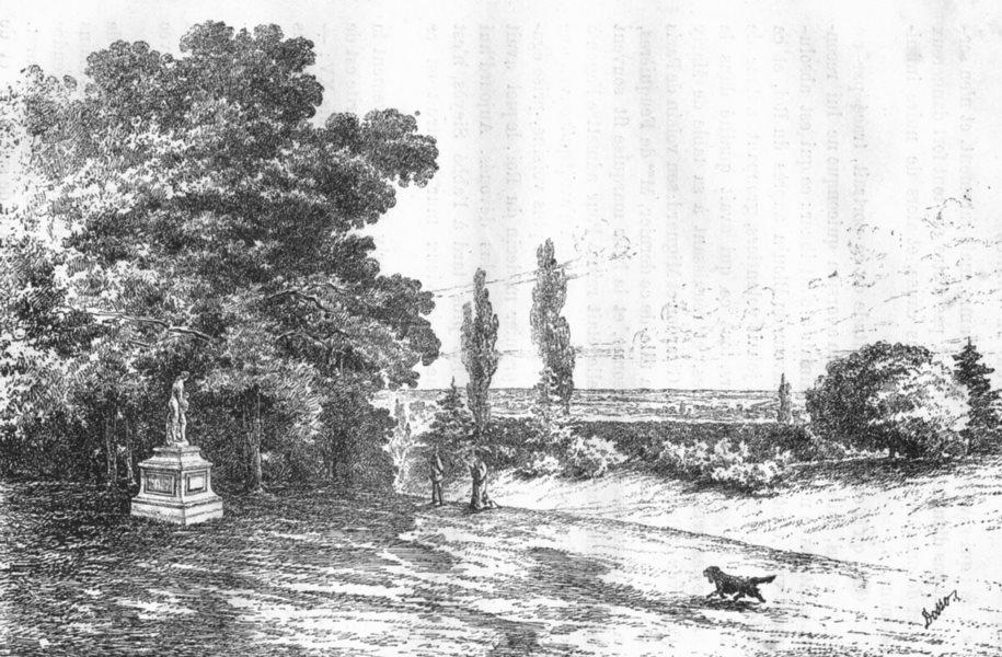 Associate Product BOUCHES-DU-RHÔNE. Le parc et le jardin du Verduron 1880 old antique print
