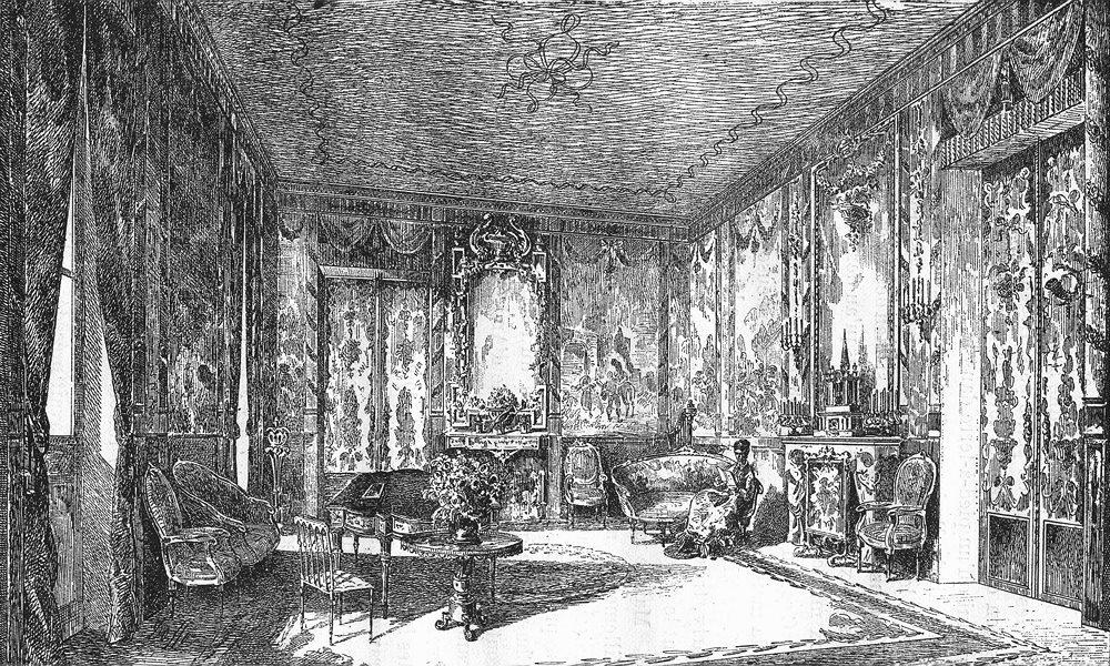 Associate Product BOUCHES-DU-RHÔNE. Le grand salon du Verduron 1880 old antique print picture