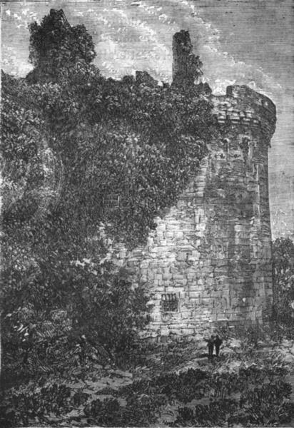 Associate Product LOIRE-ATLANTIQUE. Clisson. Tour de la prison 1880 old print picture
