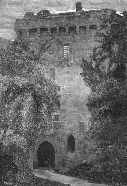 Associate Product LOIRE-ATLANTIQUE. Clisson. Exterieur du Donjon 1880 old print picture