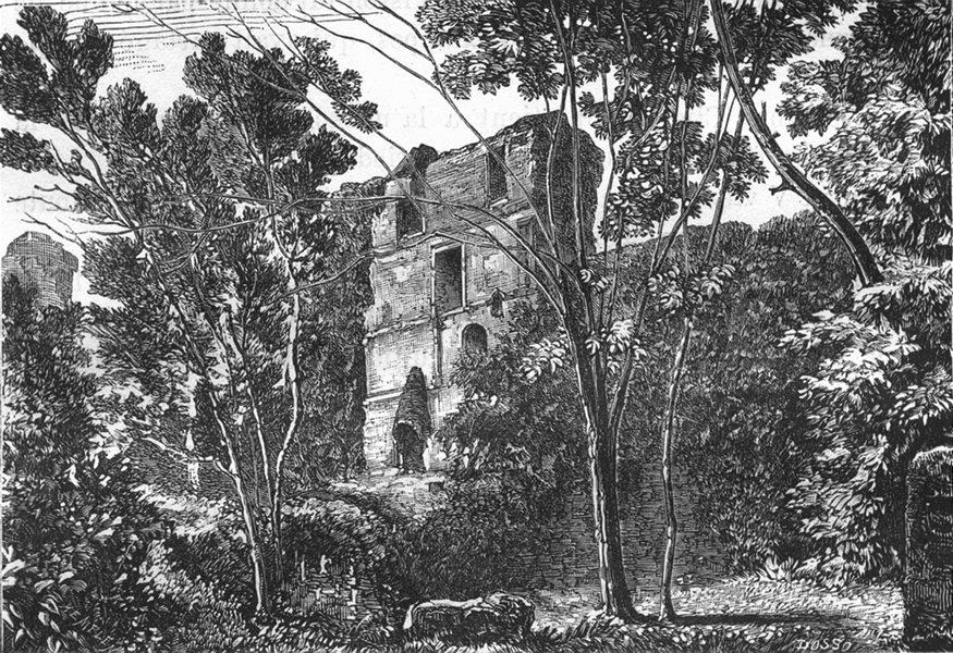Associate Product LOIRE-ATLANTIQUE. Clisson. Interieur du Donjon 1880 old print picture