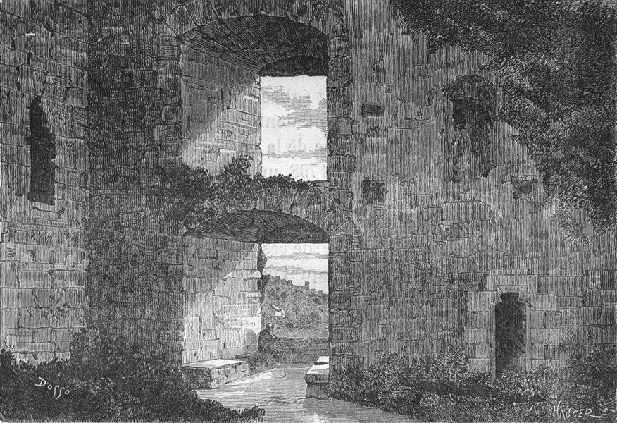 Associate Product LOIRE-ATLANTIQUE. Clisson. Croisee des Tournois 1880 old print picture