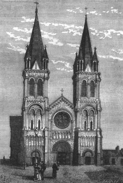 Associate Product MANCHE. Cherbourg. Eglise N D du Voeu 1880 old antique vintage print picture