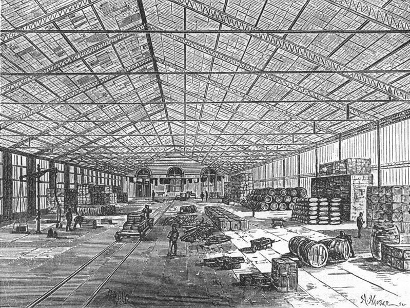 Associate Product MANCHE. Cherbourg. Port Militaire-Magasins d'approvisionnements generaux 1880