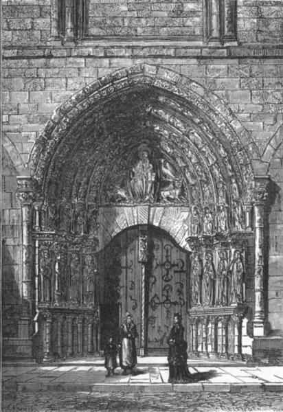 Associate Product MAINE-ET-LOIRE. Angers. Le Portail de la cathedrale 1880 old antique print